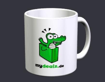 Fototasse mit eigenem Logo für 2,99€