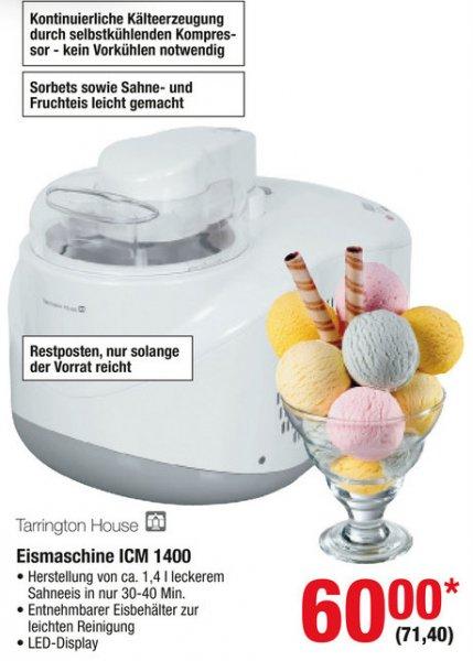 [METRO] Eismaschine Tarrington House ICM 1400, Speiseeis zum kleinsten Preis