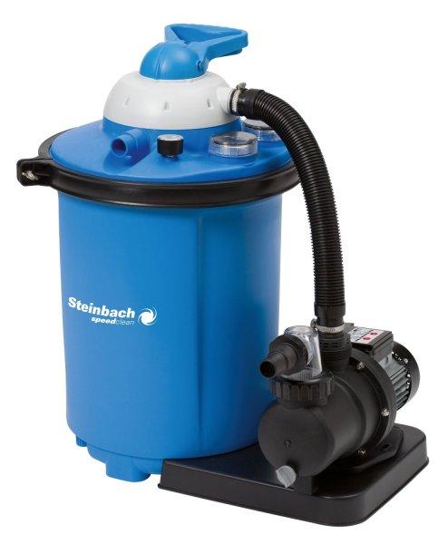Steinbach Sandfilteranlage Speed Clean Comfort 75, Blau, 8.000 l/h