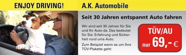 [Köln] HU + AU alle PKW bis 3,5 t dauerhaft für nur 69 Euro