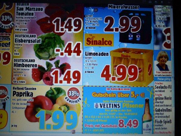 [lokal Witten] Getränke im Boni-Center: Veltins 8,49€, Sinalco 4,99€, Gerolsteiner 2,99€