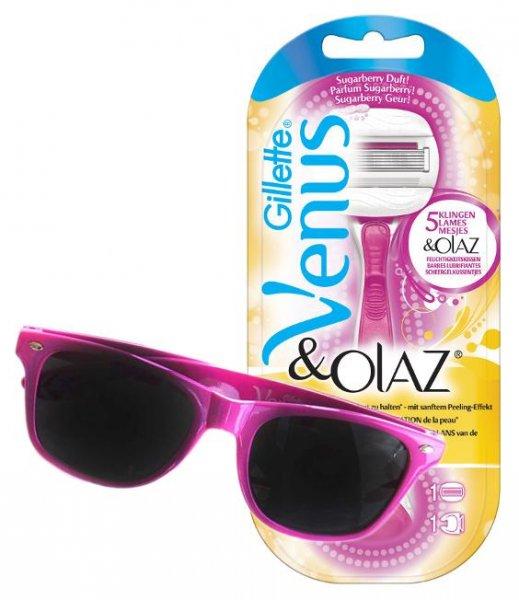 [ROSSMANN evtl. bundesweit] UPDATE Green Label: Abverkauf Gillette Venus & Olaz Sugarberry Edition + gratis Sonnenbrille für 2,12 € bzw. 1,91 € (Green Label + 20% Sofort-Rabatt + Coupon + 10% Rossmann Coupon) [13.07.2015 - 17.07.2015]