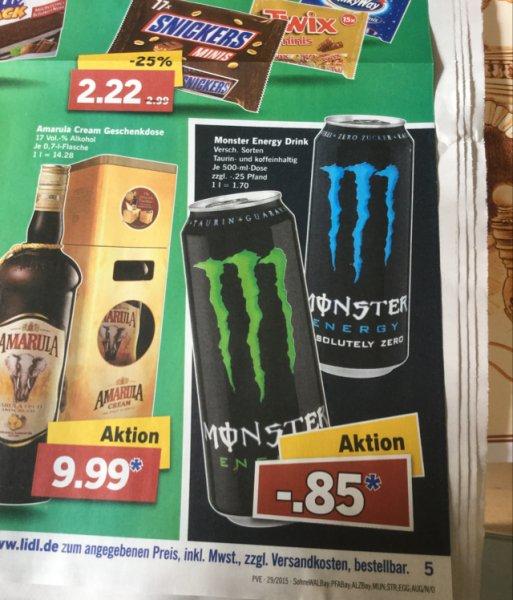 [OFFLINE] Monster Energy Versch. Sorten 85 Cent [LIDL]