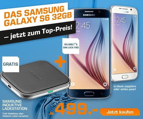 Samsung galaxy S6 32gb schwarz und weiß bei Saturn Online ab 499€