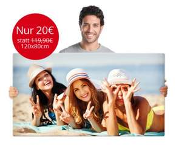 MeinXXL Leinwanddruck 120x80 nur Heute für 20.- + Versand