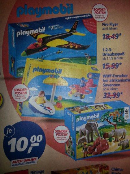 Real auch Online Playmobil Sonderposten je 10,00 Euro