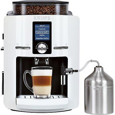 [Saturn.de] KRUPS EA 8245 weiß Espressomaschine, 1.8 Liter Wassertank, 15 bar, Kegelmahlwerk (25% billiger als PVG)