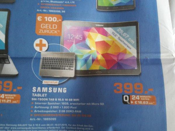 [LOKAL - Saturn Hamm] Samsung Tab S 10.5 Wifi, Bronze inklusive Tastatur für 399 Euro
