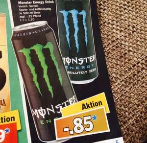 [Lidl/Bundesweit] Monster Energy Drink -.85 Cent (+ Pfand)