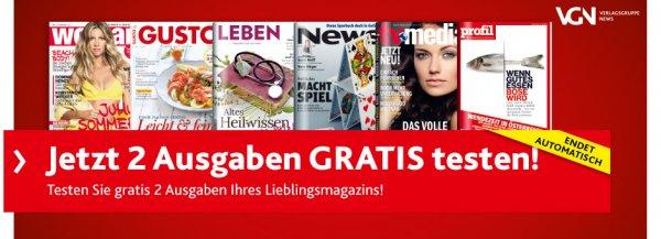 2 Magazinausgaben (Auswahl aus 6 verschiedenen) unverbindlich testen