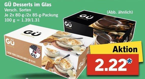 |Lidl Bundesweit| Gü Dessert im Glas aus London 2,22€