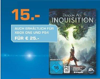 [Lokal Saturn Hagen] Dragon Age: Inquisition-(PS4 und XBoxOne) für je 25,-€***PC-Version für 15,-€