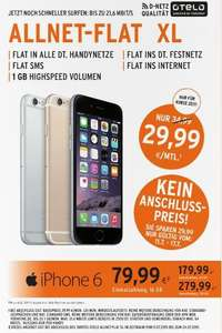 Iphone 6 mit Otelo Allnet-Flat Xl