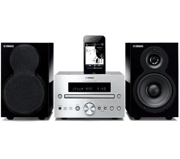 YAMAHA MCR-332 - silber/schwarz - Mikro-Kompaktanlage mit Dock-Verbindung für iPod/iPhone/iPad