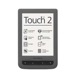 PocketBook Touch Lux 2 eBook-Reader 15.2 cm (6 Zoll) grau, 74,80 EUR @ eltronics