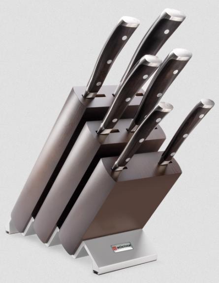 Wüsthof Luxusmesserblock Ikon 9866 6 Messer Grenadill Holz Griffe mit 40% Rabatt für 407,11€ bei Amazon Spanien
