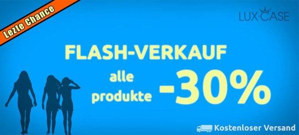 30% auf Lux-Case Produkte, Rabattaktion, Handyhüllen, Apple etc.