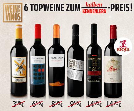 Spanien-Wein-Paket 50% reduziert!