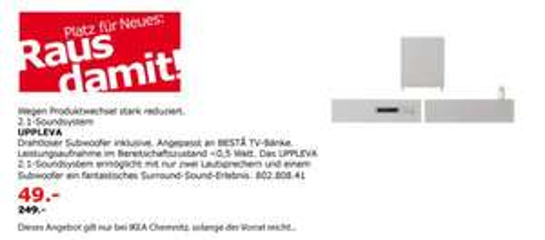 [lokal Chemnitz] IKEA Uppleva