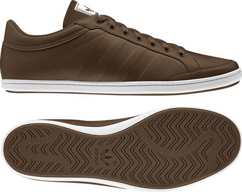 Adidas Plimcana Clean Low Leather Schuhe in Braun inkl. Versandkosten
