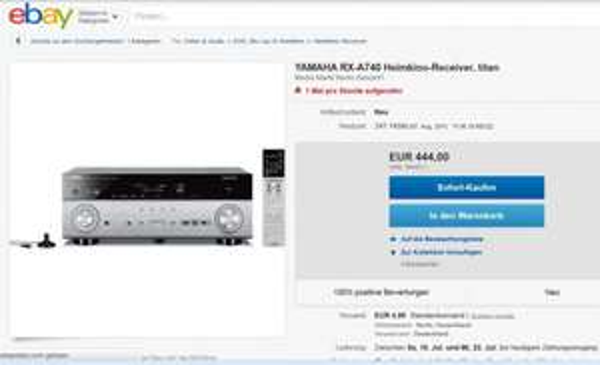 Yamaha RX-A740 AV Receiver für 444€ Idealo 622€ ebay Angebot von Mediamarkt Berlin