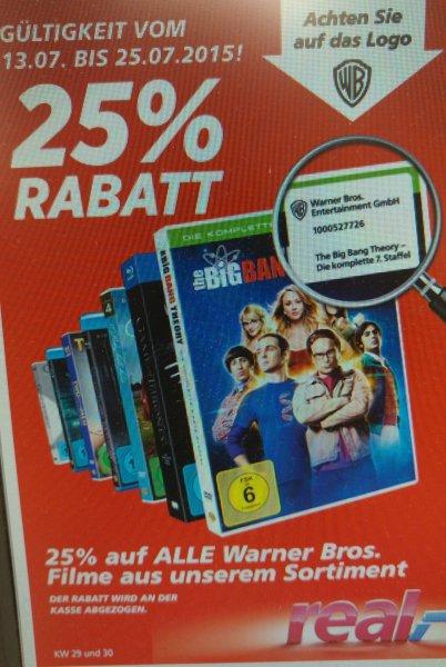 (real,- offline) 25% auf alle Warner Bros. Filme! zB True Detective Staffel 1 auf Blu-Ray für 9,74€