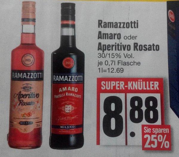 [LOKAL Edeka Dillinger Bad Abbach / Kelheim / ...] Ramazzotti Amaro oder Rosato 0,7 Liter