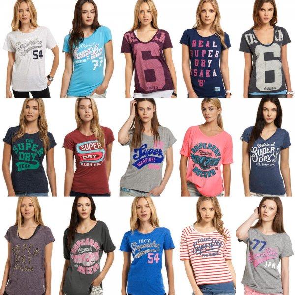 ( WoW Ebay) Neues Damen Superdry T-shirt Versch. Modelle und Farben