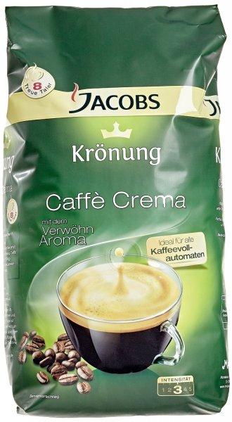 [Amazon Prime] Jacobs Krönung Caffè Crema ganze Bohne, 1000 g für 8,99€ / oder für 8,54€ im Sparabo