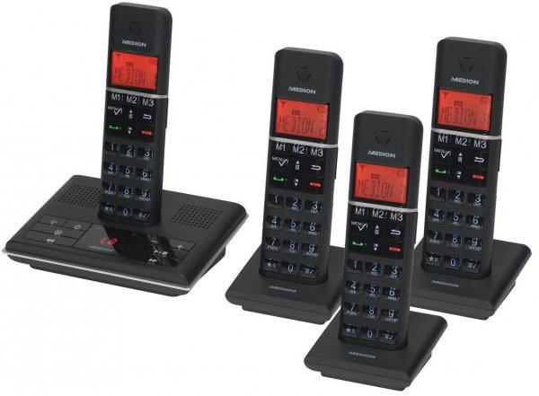 ( Ebay )MEDION LIFE P63014 MD 83674 DECT Telefon mit 4 Mobilteilen Full-ECO XL Tasten