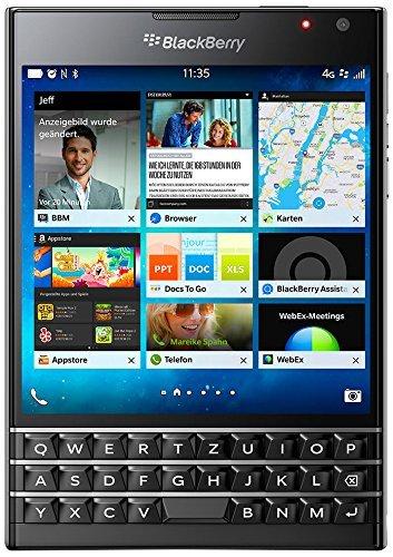 [Amazon Prime Day] BlackBerry Passport Smartphone (11,4 cm (4,5 Zoll) Display, Nano-SIM, QWERTZ, 32GB interner Speicher, 13 Megapixel Kamera, Blackberry OS 10.3) schwarz für 399,-€