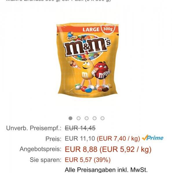 1,5kg M&M Erdnuss für 8,88 € [Amazon Prime Day]