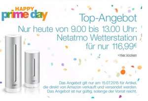 Netatmo Wetterstation - Amazon Prime Day