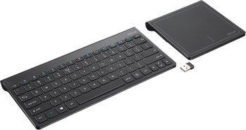 (voelkner) Trust Funk-Tastatur Skid Schwarz Integriertes Touchpad für 19,99 EUR
