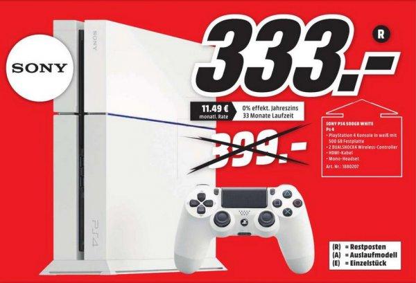 [Media Markt Dietzenbach] Playstation 4 White mit 2 Controllern
