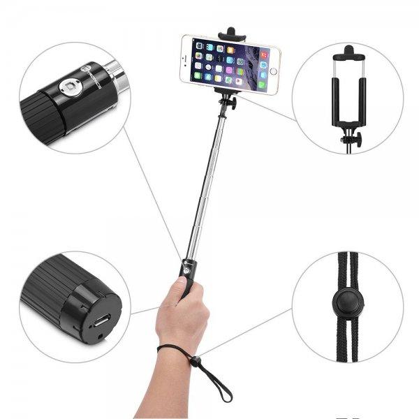 TaoTronics Bluetooth Selfie Stange in schwarz für nur 12,99 € [Amazon Prime Day]