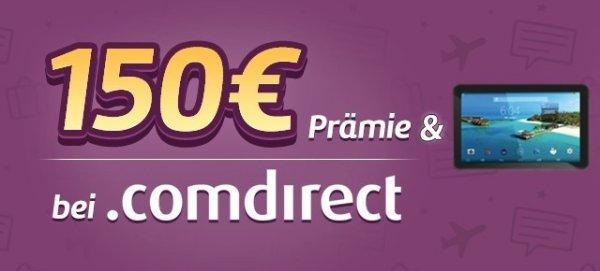 """comdirect - kostenloses Girokonto mit 50€ + 50€ + 50€ + Denver 7"""" Tablet - weltweit kostenlos Bargeld"""
