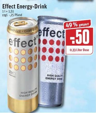 [REWE Ruhrgebiet?] Effect Energy 0,33l Dose - 0,50 Euro statt 0,99 Euro - ab 16.07.
