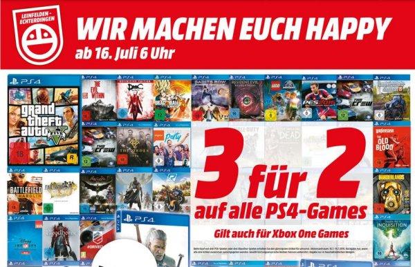 [Lokal MM Echterdingen] PS4 & XBox One 3 für 2 auf alle Games