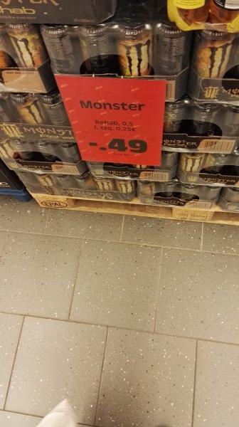 [Edeka Ulm-Lehr] Monster Energy Rehab Lemon 0,5L Dose nur 0,49€ zzgl. Pfand
