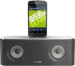 "[Otto/Neukunden] Phi­lips AS360 ""Android"" Sound-Do­cking­sta­ti­on (Micro-USB / BT mit aptX) [idealo 72€]"