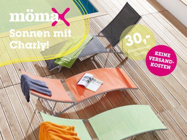 Sonnenliege Charly für 21 Euro inkl. Versand bei Mömax