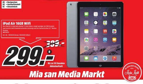 [LOKAL MM München, Erding, Karlsfeld] Apple iPad Air 16GB Wifi in beiden Farben erhältlich