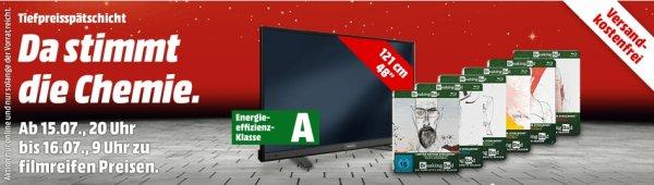 [Mediamarkt Tiefpreissätschicht] Grundig 48 VLE 6520 BL 122 cm (48 Zoll) Fernseher (Full HD, Triple Tuner, Smart TV)  für 399.-€****Breaking Bad - Staffel 1-6 (Limited Steelbook - Media Markt Exklusiv) [Blu-ray] für je 9,-€ Versandkostenfrei