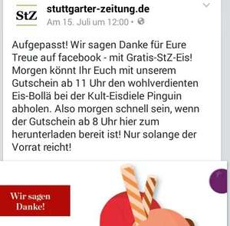 Stuttgart gratis Eis