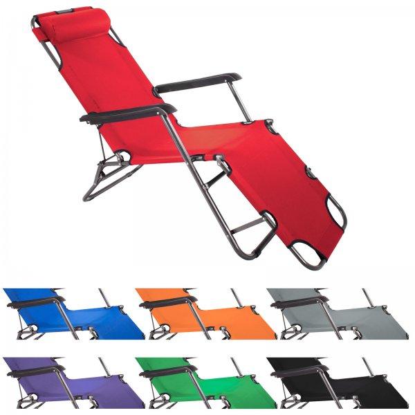 (eBay) SMARTFOX Gartenliege Sonnenliege Strandliege Relaxliege Deck Chair klappbar 27,95 Euro