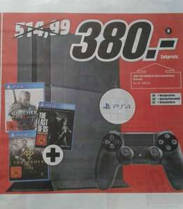 [Lokal MM Mülheim a.d. Ruhr] Playstation 4 + The Witcher 3 + The Last Of Us + The Order 1886 für 380 €