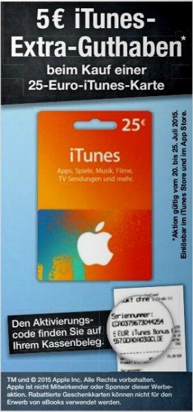 [Kaufland] 25€ iTunes Karte + 5€ Extra-Guthaben