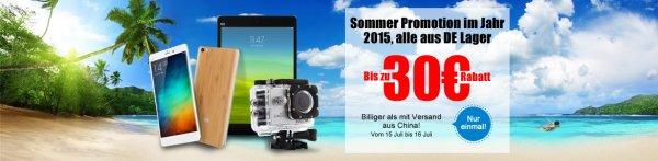 Geekvida Sommer Promotion - Lieferung aus DE z.B. JIAYU S3 für 209,99