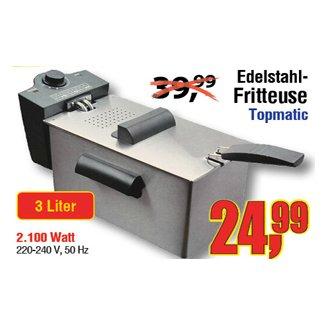 [CENTERSHOP] Edelstahl-Friteuse 3,0l 2100 Watt für nur 24,99€